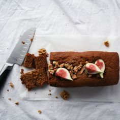 Banana bread with figs and walnuts. wow!