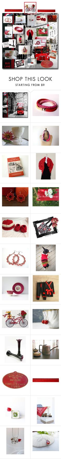 """""""Handmade on Etsy"""" by therusticpelican ❤ liked on Polyvore featuring Aynsley, Conran, modern, contemporary, rustic and vintage"""