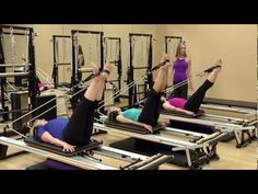 pilates reformer 23 - YouTube