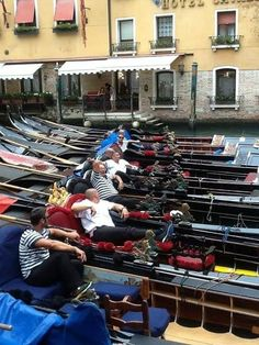 Get to Venice!!! The gondoliers have nothing to do