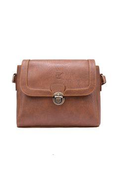 Túi đeo chéo Eva màu bò - Thương hiệu Lee&Tee
