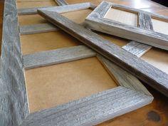 Multi Opening 4 X 6 Barnwood Panel Collage Picture Photo Frames in choice of natural or painted finishes