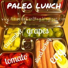 Paleo lunch in a planetbox.