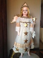 Antique Wax Christmas Fairy Doll from the collection of Karen Hendrix