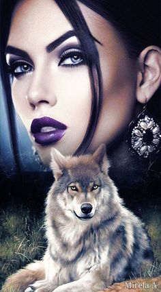 Wolf Pictures, Girl Pictures, Lobos Gif, Jolie Images, Wolves And Women, Wolf Painting, Native American Quotes, Wolf Spirit, Wolf Girl