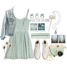 Dreaming by thepheonix256 on Polyvore featuring MINKPINK, Converse, Lomography, women's clothing, women's fashion, women, female, woman, misses and juniors