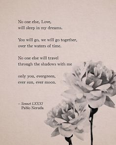 Pablo Neruda love poem art gifts for her wall by Riverwaystudios