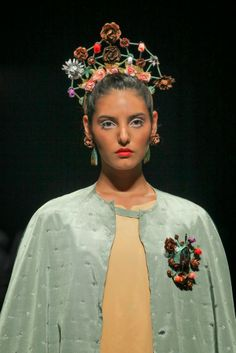 Siempre Viva Collection at Pasarela Valparaíso runway.Casa Kiro Joyas. January 2014. Inspired in Animitas (street soul houses) and desert cementeries from Chile