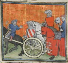« C'est le livre de messire Lancelot du Lac, ouquel livre sont contenus tous les fais et les chevaleries dudit messire Lancelot, et la Queste du saint Graal faite par ledit messire Lancelot, le roy Artus, Galaad, le bon chevalier Tristan, Perceval, Palamedes et les autres compaignons de la Table ronde. » — 2e volume Auteur : Gautier Map. Auteur du texte Date d'édition : 1401-1425 Bibliothèque de l'Arsenal, 3480 Folio 59