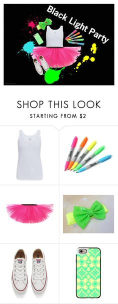 """Black Light Party"" by miranda-skye25 on Polyvore featuring Majestic, Sharpie, Converse, Casetify, neon, party, converse, whiteshirt and sharpies"