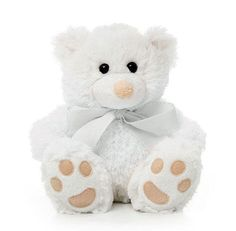 Title: Teddy Bear Roly Junior White soft plush toy by Teddy Time Size: Measures 8 inch / 20cm sitting Price: AUS$ 12.95 Brand : Teddy Time  Lots more items like this available at: www.stuffedwithplushtoys.com 100 Day Returns |Fast Trackable Shipping|Amazing Service
