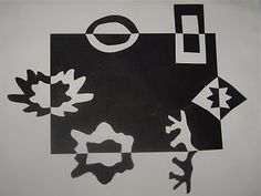 Black and White Paper Cut-Outs- Grade 3, Positive/negative space review