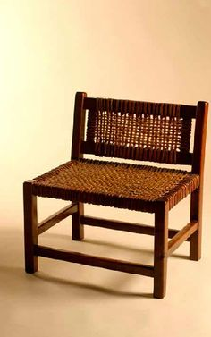 termed woven leather bench (not chair)