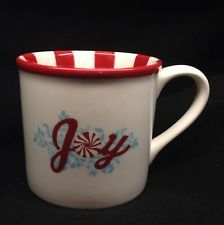Starbucks Holiday 2007 Peppermint Candy (Joy) Mug - Hubby gave me this one Christmas Dinnerware, Christmas Dishes, Peppermint Candy, Starbucks Mugs, Mug Cup, Give It To Me, Cups, Christmas Decorations, Porcelain