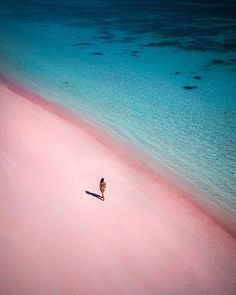 . Pink Beach, Pink Sand, Cool Captions, Water Me, Architecture, Places, Outdoor, Doughnuts, Facebook