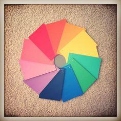 Paint chip spectrum.