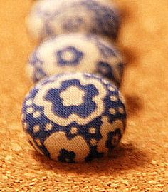 Blue and White Flower Push Pins. $6.50, via Etsy.