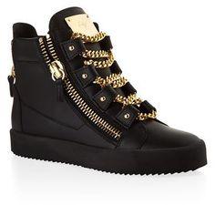 Giuseppe Zanotti Lovejoy Leather High Top Sneaker