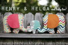 18 Elephant Plushie Patterns Free!