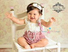 Dusty Ivory Rose Lace Romper, romper, baby girls Romper, wedding flower girl, Photo props, Baby outfit, toddler outfit, birthday outfit on Etsy, $24.99