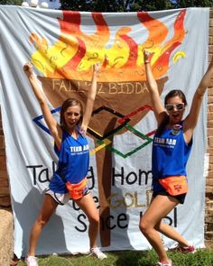ADPI olympic theme!! Bid-day shirts can be similar to their banner. I think this would be awesome. Definitely one of my favorite ideas. This or the Southern Tide!!