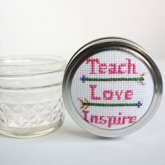 Cross Stitch Kits | DIY Jar Crafts for Teacher Gifts – Pampered Teacher