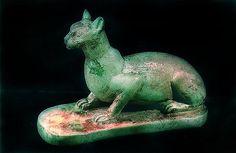 Egyptisk staty av katt