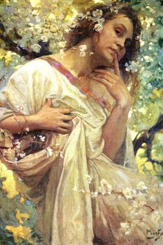 Spring by Alfons Mucha