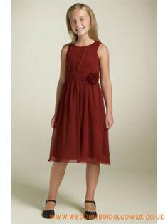 Sleeveless Sash Chiffon Junior flower girls dress