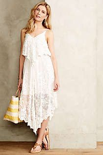 Anthropologie - Veiled Silk Dress
