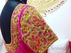 cutworkembroidery  pinkandyellow  bridalblouses   embroideryblouse  swaadhbyswapnaareddy  silkblouse 13 September 2016
