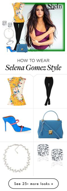 """""""shein"""" by kim-coffey-harlow on Polyvore featuring Oasis, Malone Souliers, Mark Cross and Carolee"""