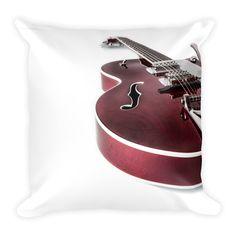 Gretschen Guitar Music Art Throw Pillows by Amazon Channel Ninja | Inktale