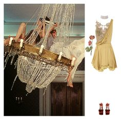 """""""Tore My Yellow Dress"""" by laurenmarron ❤ liked on Polyvore featuring Julien Macdonald, Rochas, Marina J. and laurenthelabel"""