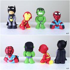 Fondant Superman Hulk Batman & Iron Man