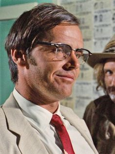 """Jack Nicholson in his breakout role (and Dennis Hopper) in """"Easy Rider"""", 1969."""