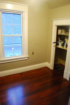 Love the trim,with wood floors!  This is how my home is,I love it! It really stands out.