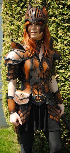 Leather armor ''Valkyrie'' by Lagueuse.deviantart.com on @DeviantArt