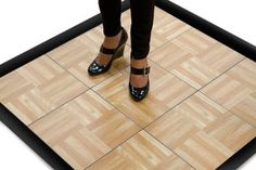 3' x 3' Dance Floor in Oak finish great for practicing at home