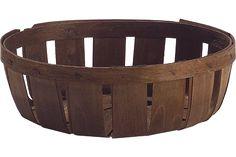 """8 3/4 Diameter Fruit Basket- Brown [50] 8 3/4"""" x 2 3/4""""  $2.00 Price shown: EA  Package: 50"""