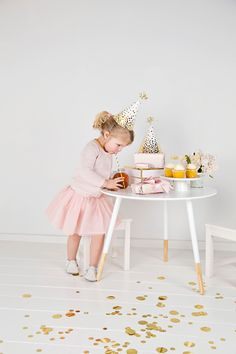 Sometimes you match your outfit to your party — sometimes you match the party to your outfit. Metallics and pastels are not only a cute combo for your tots toes, but a simple chic palette for their next soiree.
