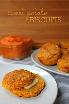 Sweet Potato Biscuits using homemade sweet potato puree -- A delicious autumn twist on the humble biscuit!