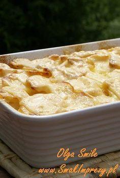 Zapiekane ziemniaki ze śmietaną - przepis Olgi Smile Polish Recipes, Apple Pie, Macaroni And Cheese, Grilling, Food And Drink, Potatoes, Tasty, Vegetables, Cooking