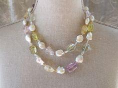 Baroque Pearl Sautoir with Multicolor Stones image 5