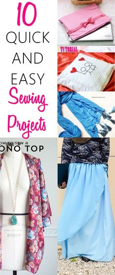 10 Quick and Easy Sewing Projects for Beginners. What a GREAT list of super easy sewing projects that I can make in a jiffy! Definitely worth checking out. READ NOW.