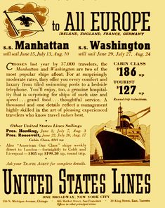 Cruise Ship History: UNITED STATES LINES SS WASHINGTON AND SS MANHATTAN – $127 One-Way – From New York to Europe in 1938 – TEDDY KENNEDY was a passenger! | Cruising The Past