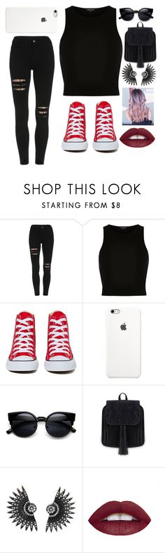"""""""Untitled #488"""" by i-found-wonderland ❤ liked on Polyvore featuring River Island and Converse"""