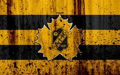 Download wallpapers 4k, Skelleftea AIK, grunge, hockey club, SHL, Sweden, stone texture, hockey, Skelleftea AIK HC