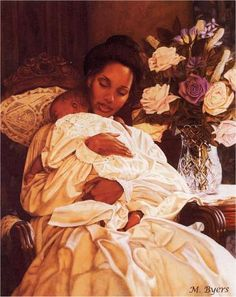& Her Loving Arms I& Melinda Byers. I like this because it reminds me of Mary Cassatt& impressionist paintings of mother and child. Black Love Art, Black Girl Art, Art Girl, African American Art, African Art, Caricatures, Claudia Tremblay, Art Français, Mary Cassatt