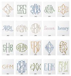 Monograms via the Picket Fence